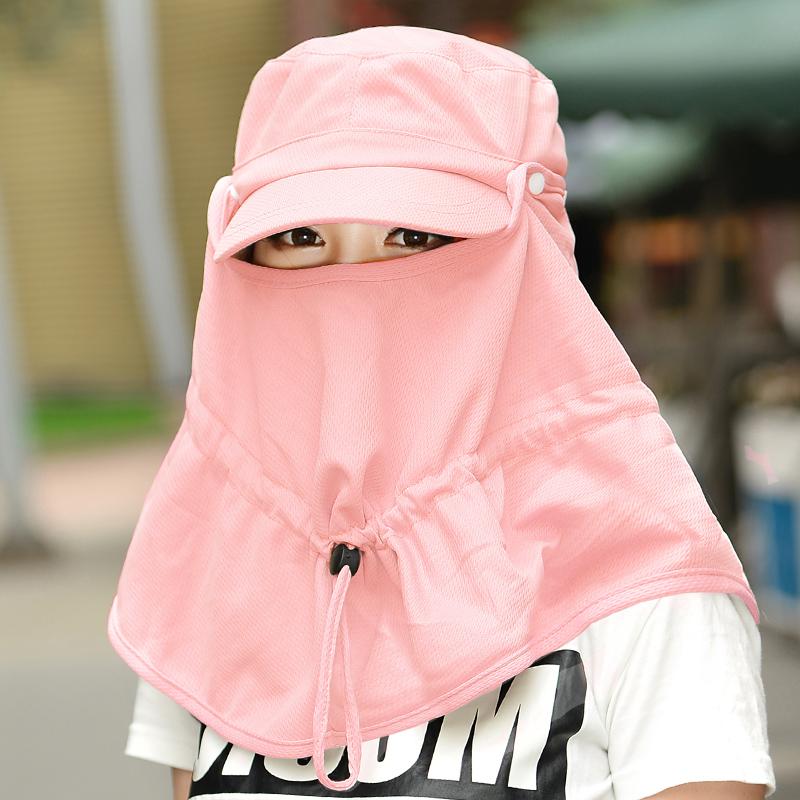 防晒帽女可折叠户外