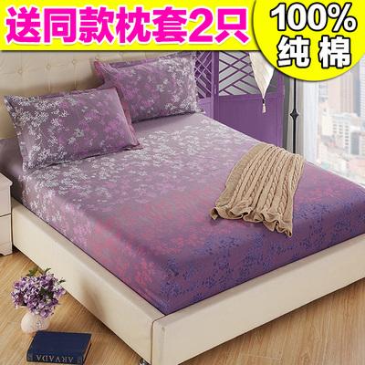 纯棉床笠单件床罩1.5米1.8m床全棉防滑席梦思床垫保护套防尘床套旗舰店