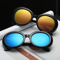 箭头大码圆形女式太阳镜家K欧美新款网红无框海洋片墨镜2017
