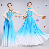 2019 new big swing skirt costumes female large dance dress open dance modern dance chorus dress