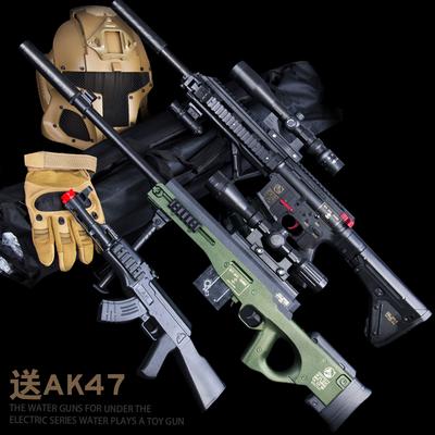電動連發水彈槍絕地求生M416步槍 吃雞98k狙擊 可發射awm玩具槍