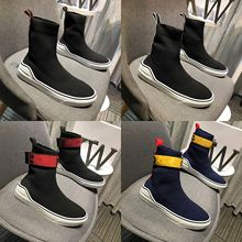 European Station 2019 New High-Up Men's Shoes, Flat-soled Sports Shoes, Knitted Elastic Socks, Boots, Men's and Women's Couples'Shoes