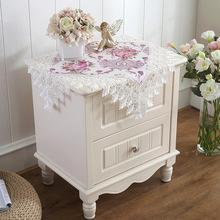 泰绣欧式床头柜盖布蕾丝布艺方桌小桌布电视机冰箱盖巾防尘罩