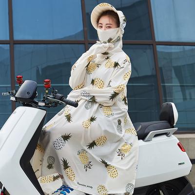夏季电动摩托车防晒挡风被薄款电车电瓶车防风遮阳罩防紫外线衣女