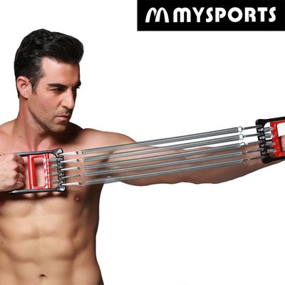 拉力器扩胸器健身器材家用男多功能收腹脚蹬器背肌胸肌训练臂力器