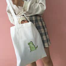 韩国ulzzang原宿风单肩包女学生帆布便利袋 手提袋流行环保购物袋