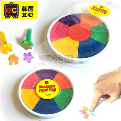 手印盘大号儿童手指画颜料指印画印泥宝宝手掌画签到印台无毒水洗