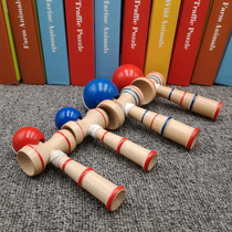 Wooden Tips Ball Sword Jade Sword ball Childrens parent-child game room inside and outside adult fun balance beam toys