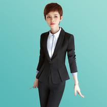 秋冬职业装女装套装黑色三件套裤裙装时尚大码面试西装套装正装女