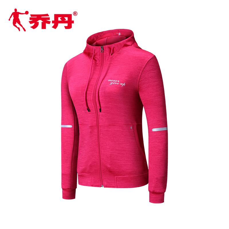 乔丹女装外套2018春季新品运动服女子针织上衣连帽开衫卫衣休闲服
