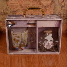 复古巴黎铁塔杯子闪光玻璃许愿瓶星星瓶礼盒家居摆件学生礼品