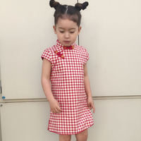Summer children's cheongsam Tang suit Girls' lattice cheongsam children cheongsam dress cheongsam parent-child wear mother and women