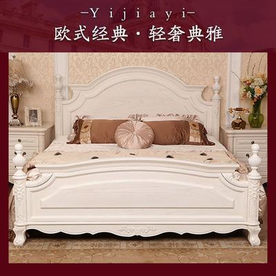欧式实木床白色1.8米m简欧 韩式田园公主床 美式轻奢雕花双人婚床品牌排行榜