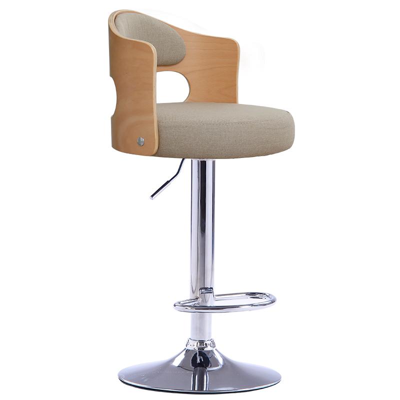 吧台椅实木家用现代简约靠背北欧升降旋转高脚凳吧凳收银酒吧椅子