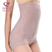 Shi Fengting after the off-the-shelf abdomen, stomach, waist, hips, slimming underwear, high waist, buckle, leggings, women's thin mesh