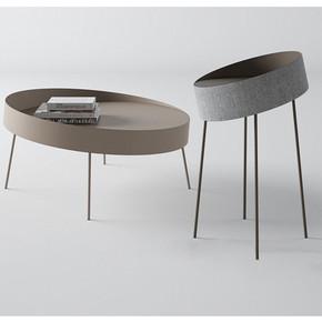 北欧时尚小茶几铁艺简约现代茶桌创意客厅边几个性沙发金色角几