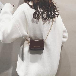包包女2018新款潮韩版百搭斜挎小包ins单肩简约学生链条chic女包