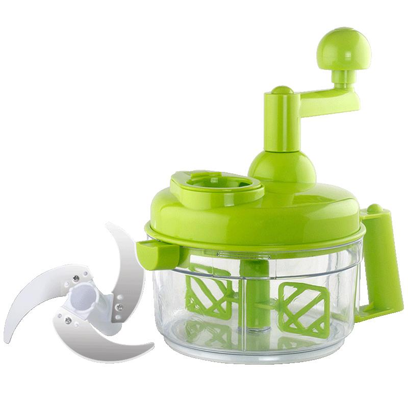 克欧克多功能切菜器家用厨房碎菜器宝宝辅食机手动绞菜机饺子馅
