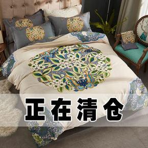 特价全棉结婚大红4四件套纯棉婚庆床上用品床单被套1.82.0m床单款