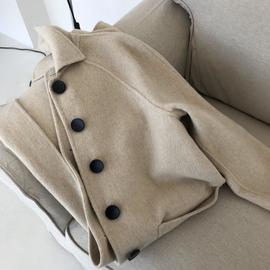 反季清仓羊绒赫本风小个子毛呢大衣秋冬呢子外套女中长款学生图片