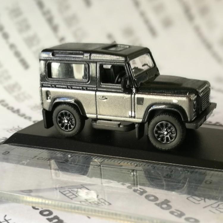 陆虎越野车_英国陆虎路华卫士90灰黑色越野车模型合金比例1:76牛津oxford盒装