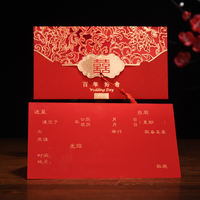 Chinese style wedding invitation wedding invitation 2018 creative personality custom invitation wedding invitation envelope wedding supplies