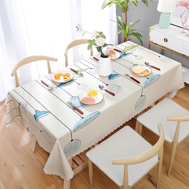 pvc桌布防水防烫防油免洗茶几垫塑料长方形餐桌布布艺ins北欧风