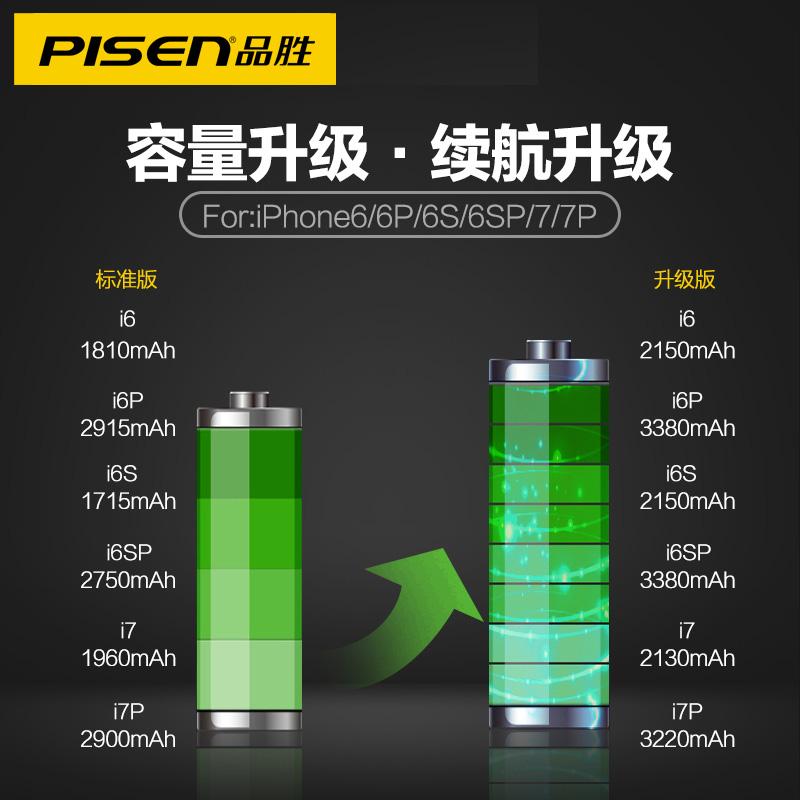 品胜苹果iphone6换6s iX六6plus手机i7P高容量i8plus 6sp5c电池5s