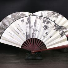 清风古风扇子折扇中国风 男绢扇折叠扇复古典 古代随身日用扇便携