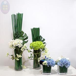 仿真花玻璃花瓶插花摆设茶几餐桌客厅假花装饰小清新摆件花艺套装