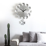 Wall clock modern minimalist art quartz clock living room bedroom mute fashion creative round wall clock living room modern