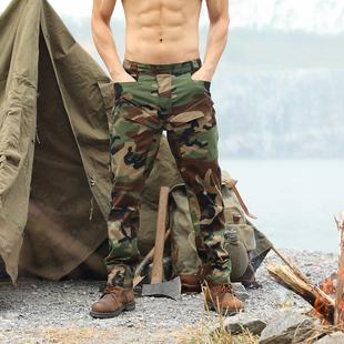 酋长新款 男军迷修身 特种兵四色丛林战术裤 多口袋工装 户外迷彩裤