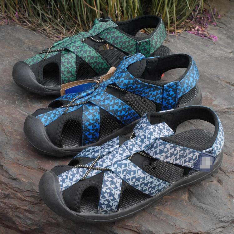 出美国单 男士夏季透气防滑户外凉鞋沙滩鞋 防撞包头涉水鞋溯溪鞋