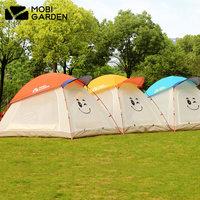 牧高笛户外 露营公园防泼水休闲带帽儿童亲子2-3人大空间夏季帐篷
