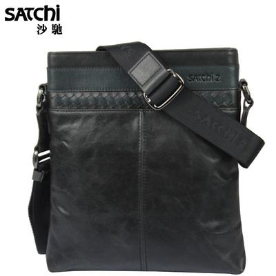 SATCHI沙驰男包【包邮】 男士牛皮单肩斜挎包LM905058-4H