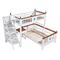兔宝宝儿童房新西兰松高低床子母床书桌椅组合床75023 实木家具