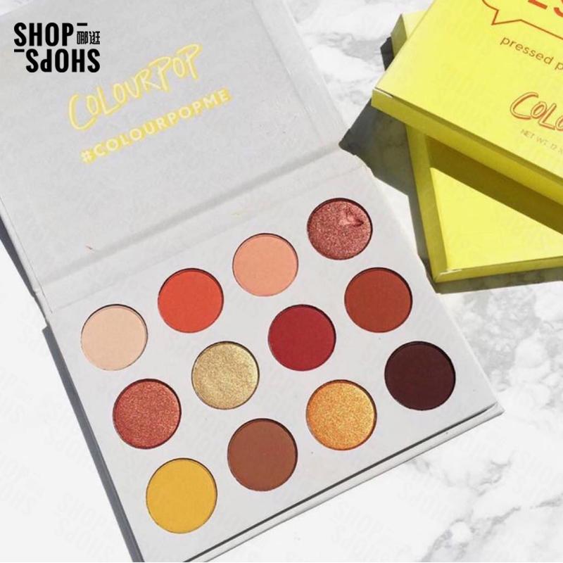 [ShopShops]COLOURPOP12色眼影盘 哑光金属夕阳大地色 多色可选