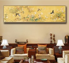 New Printed DMC Cross Embroidery Suite Living Room, Bedroom, Studio, Hanging Paintings of Lang Shining and Baibutterfly Paintings