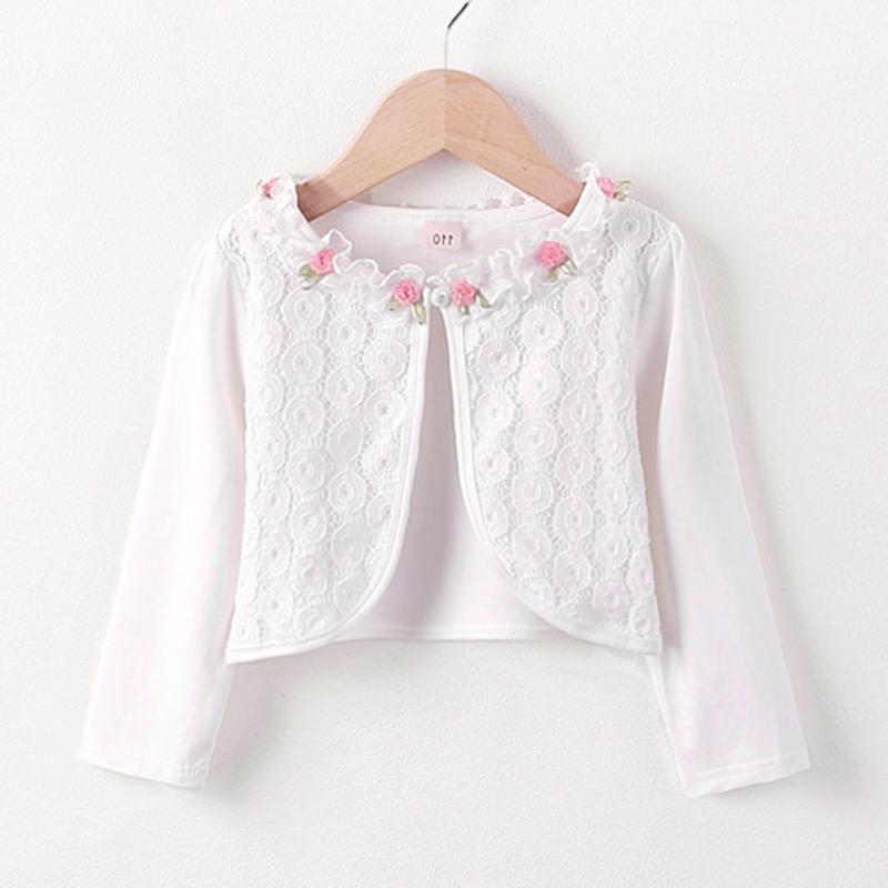 女童披肩外套春夏棉质2018新款韩版儿童外搭开衫宝宝长袖秋装童