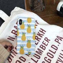 8创意全包边套 韩国夏日水果菠萝适用苹果X手机壳 iphone7plus