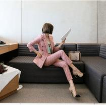 短款春秋下载亚博体育官方版女装修身小西装韩版显瘦长袖职业小西服外套2014