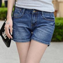 女卷边修身 女裤 性感高腰显腿长潮裤 显瘦弹力新款 夏季收腹牛仔短裤