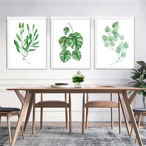 绿植细语北欧小清新装饰画客厅现代简约墙画书房餐厅田园艺术挂画