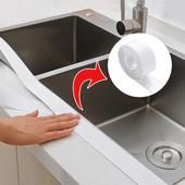 日本厨房防水胶带厨卫水槽防水贴缝隙美缝墙角线贴防潮密封条