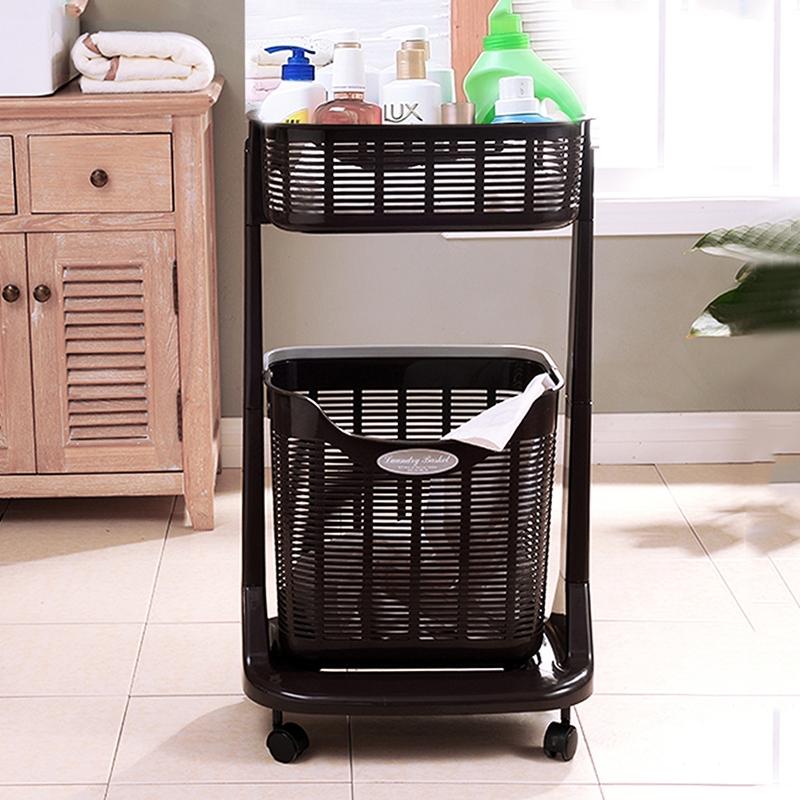 日本进口脏衣篮塑料洗衣篮大号收纳筐玩具收纳装衣服的篮子脏衣篓1元优惠券