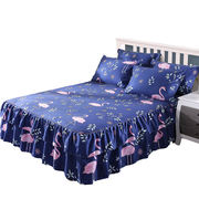 Cotton bed cover bed skirt bed cover single piece dust protection cover 1.5 m 1.8m cotton bed sheet 笠 three-piece