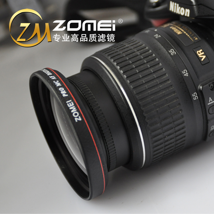Zomei 卓美 55mm 超薄 广角镜 0.45X 广角附加镜头适用a580 18-55