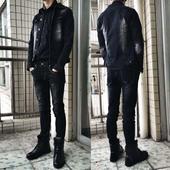 牛仔套装男韩版潮流修身青年夹克衣裤两件套衣服一套帅气春秋外套