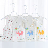 Baby single layer thin section summer vest newborn cotton vest men and women baby cartoon vest spring and autumn vest