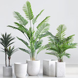 Sicily Nordic plant flower pot large floor glass fiber reinforced stone flower indoor and outdoor hotel mall decoration